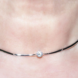 Nadri  CZ Choker Necklace